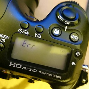 Sony A77 Viewfinder died ... what might it be?