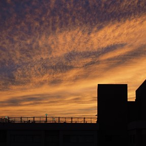 Sunset (9/20) from my balcony