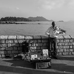 Seaside with music