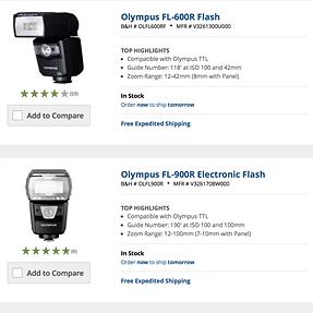 Flash Olympus FL-900R or Olympus FL-600R For Radio Controlled??