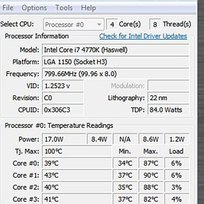 Core Temp and USB external HDD oddity