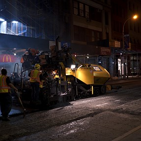 Sony A7s ii: Night-time Road Resurfacing Operation - Use of FF!