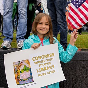young lady at march for science 22 April 20 2017