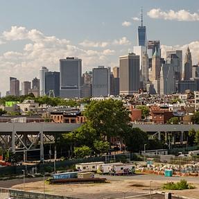 NYC Skyline from Industrial Brooklyn. Fuji X30