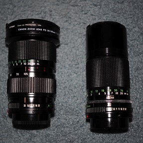 F/S - Canon FDn 35-105 f3.5 and FDn 200 f4 Lenses