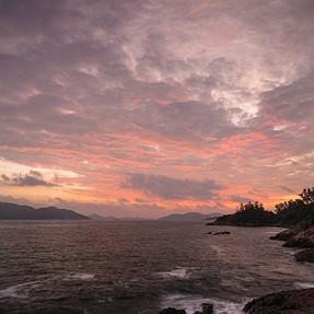 Orange Sky at Long Ha Wan(Lobster Bay seashore)