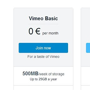 Vimeo imposes 5GB total storage limit for Basic members starting January 29,2018.