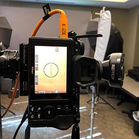 BTS Studio on location setup for corporate portraits
