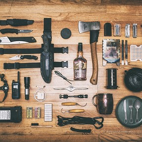 Camping gear shot / Nikkor 24mm f/1.4