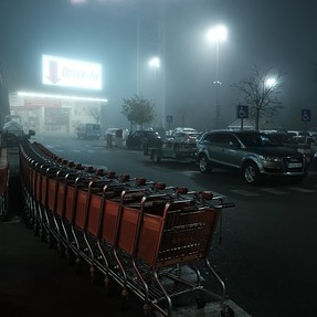 Fog in the mall