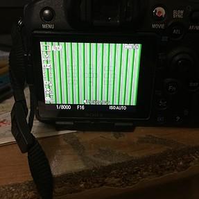 SLT-A77, weird LCD display