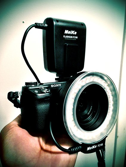 Meike Fc 100 Ring Light Nex 6 16mm 2 8 Pancake Sony