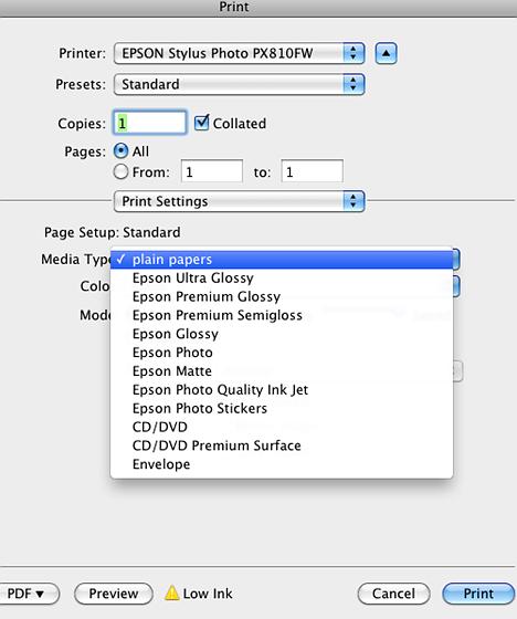 Epson Artisan + luster paper profile?: Printers and Printing Forum