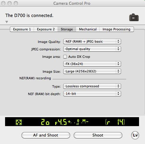 Nikon Camera Control Pro 2 - D700 tether issue: Nikon FX SLR (DF, D1