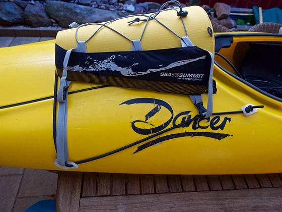 How I modded a Perception Dancer kayak with a deck bag for