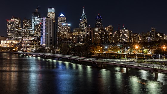 Philadelphia Skyline At Night And Others From Phily
