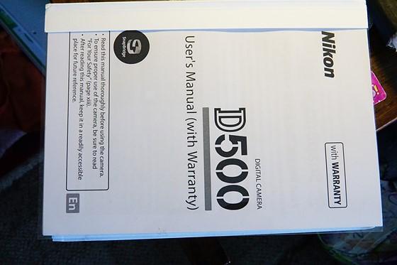 nikon d500 bound laser printed 405 page user s manual for sale rh dpreview com nikon d500 manual free nikon d500 manual focus rangefinder accuracy