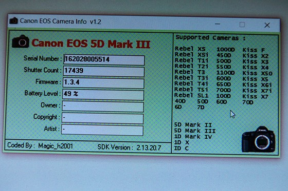 canon 5d mark ii serial number manufacture date