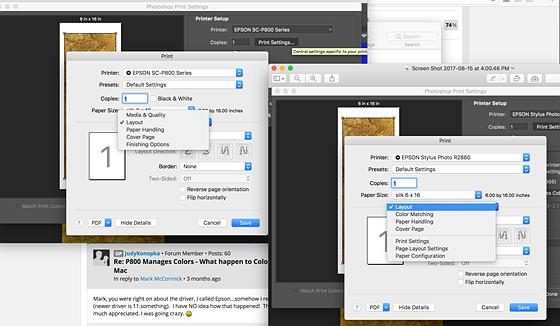 P800 Manages Colors - What happen to Color Mode? Mac