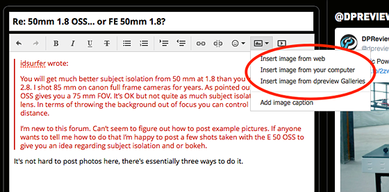 Re: 50mm 1 8 OSS    or FE 50mm 1 8?: Sony Alpha / NEX E-mount (APS-C