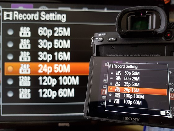 Sony A7 III - can't find 120p recording option: Sony Alpha
