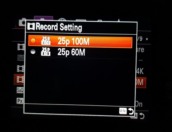 Sony A7iii Unable To Find The Standard Frame Rates Sony