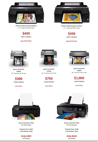 Discounts on Epson Sure Color printers - with a notable