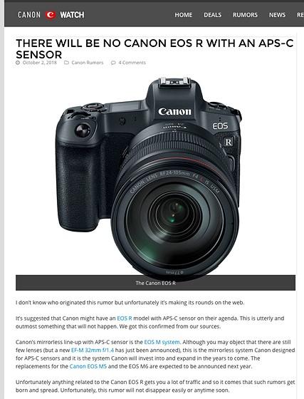 Re: FAKE RUMORS: Canon EOS M Talk Forum: Digital Photography