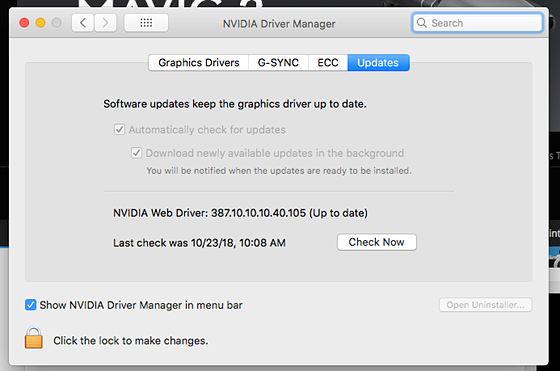 Nvidia Web Driver for Mohave: Mac Talk Forum: Digital Photography Review