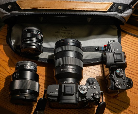 Which shoulder bag for a7III (ideally x2) + lens: Sony Alpha