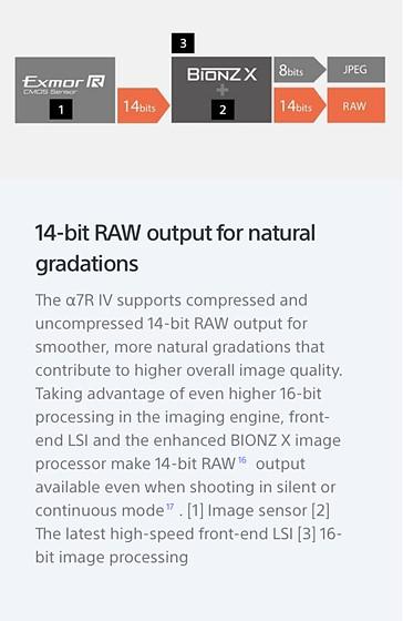 Sony a7RIV 16 bit quantizing?: Sony Alpha Full Frame E-mount
