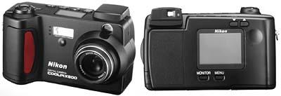 Nikon Coolpix 800 (front & back)