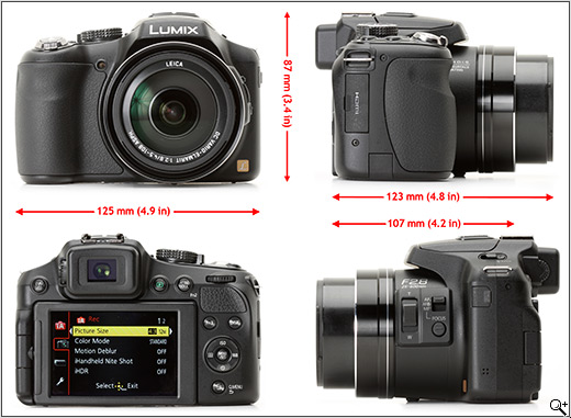 The Lumix DMC-FZ200 in the hand
