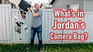What's in Jordan's camera bag ???