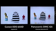 Canon 650D Hybrid AF Vs. Panasonic DMC-G5