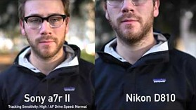 Sony a7R II video focus compared to Canon and Nikon by DPReview.com